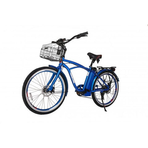 Blue X-Treme Newport Electric Cruiser Bike - Front View