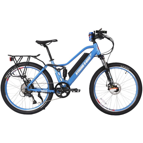 Blue X-Treme Sedona 48V Electric Mountain Bike - Side View