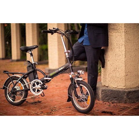 Electro Bike Alfa Plus - Folding Electric Bike - Standing next to bike