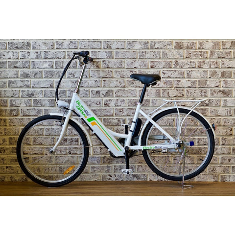White Electro Bike DASH - Electric Cruiser Bike - Side View
