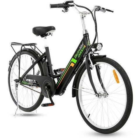 Matte Black Electro Bike DASH - Electric Cruiser Bike - Front View