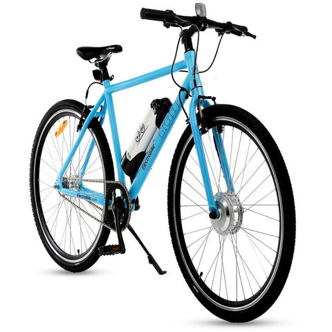 Light Blue Electro Bike Light - Electric Commuter Bike - Front View