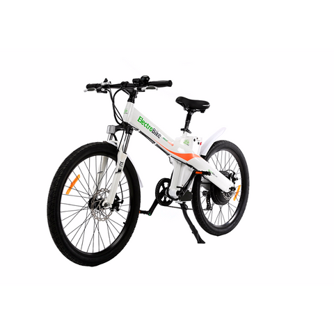 White Electro Bike Seal 500 - Electric Commuter Bike - Front View