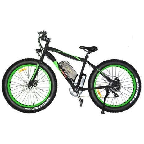 Green AddMotor Motan M550 - Fat Tire Sport Electric Bike - Side View
