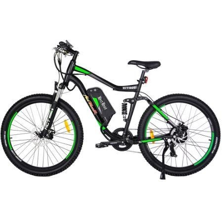 Green AddMotor HitHot H1 - Electric Mountain Bike - Side View