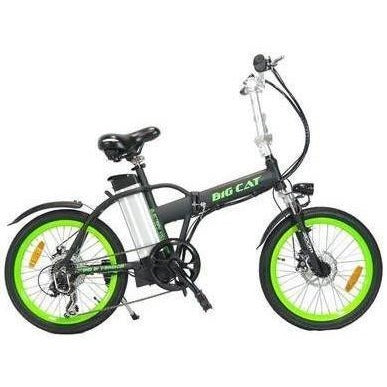 Green Big Cat Alley Cat - Folding Electric Bike - Side View