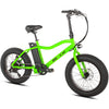 Image of Green Big Cat Mini Cat XL500 - Fat Tire Electric Bike - Front View