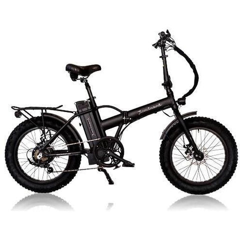 Black Joulvert Playa Desert - Folding Electric Bike - Side View