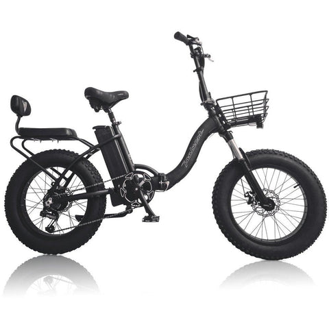 Black Joulvert Playa Voyager - Folding Electric Bike - Side View