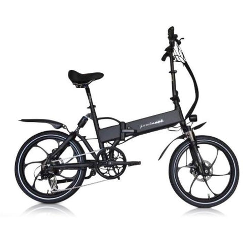 Black Joulvert Stealth - Folding Electric Bike - Side View