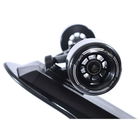 Liftboard Single Motor Electric Skateboard - Side View of front wheels
