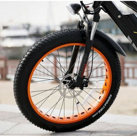 Orange AddMotor Motan M5800 - Fat Tire Electric Bike - Front Wheel