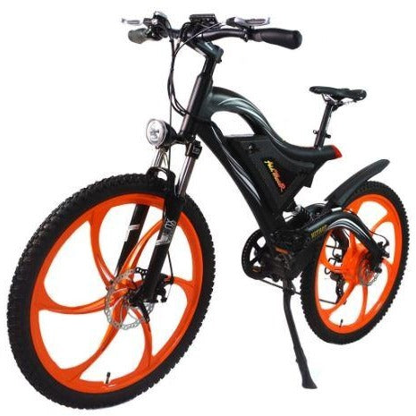 Orange AddMotor HitHot H2 w/ MAG Wheel - Electric Mountain Bike - Front View