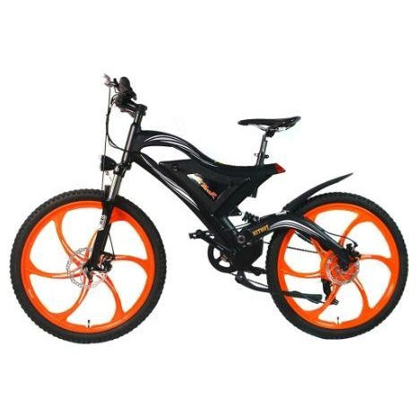 Orange AddMotor HitHot H2 w/ MAG Wheel - Electric Mountain Bike - Side View