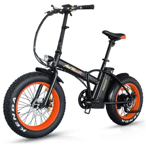 Orange AddMotor M-150 - Folding Fat Tire Electric Bike - Front View