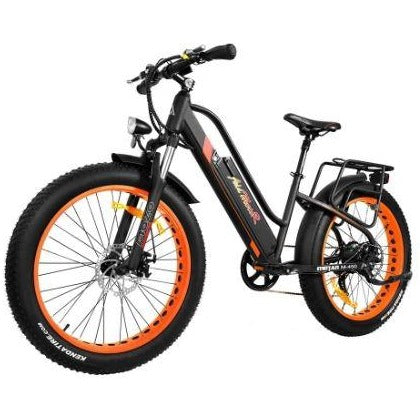 Orange AddMotor Motan M450 - Fat Tire Electric Bike - Front View