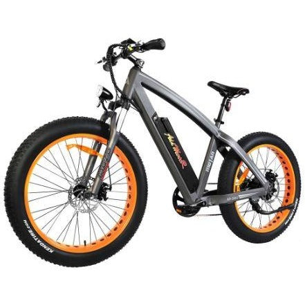 Orange AddMotor Motan M560 - Sport Fat Tire Electric Bike - Front View