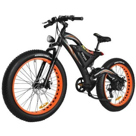 Orange AddMotor Motan M850 750W - Electric Mountain Bike - Front View