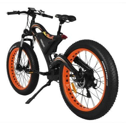 Orange AddMotor Motan M850 750W - Electric Mountain Bike - Rear View