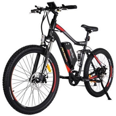 Orange AddMotor HitHot H1 - Electric Mountain Bike - Front View