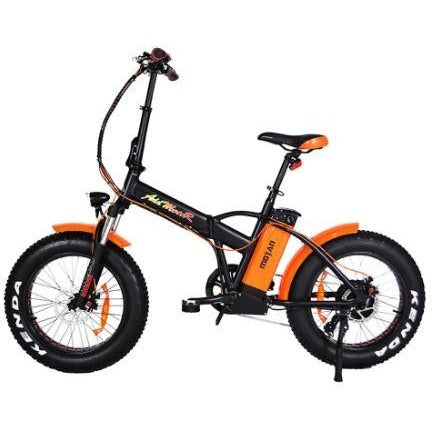 Orange AddMotor Motan M150 P7 - Folding Fat Tire Electric Bike - Side View