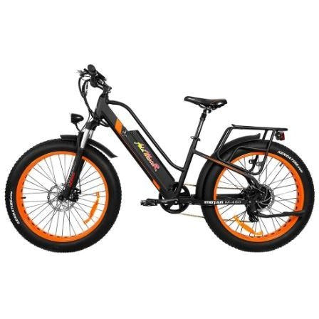 Orange AddMotor Motan M450 - Fat Tire Electric Bike - Side View