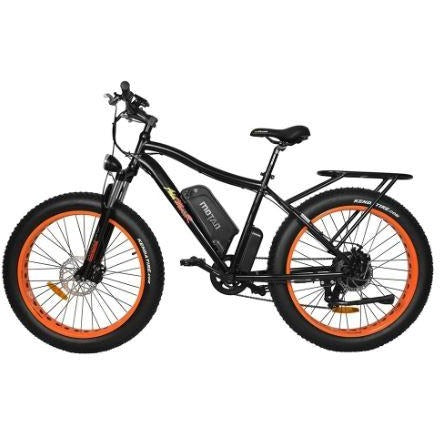 Orange AddMotor Motan M550 750W - Fat Tire Electric Bike - Side View
