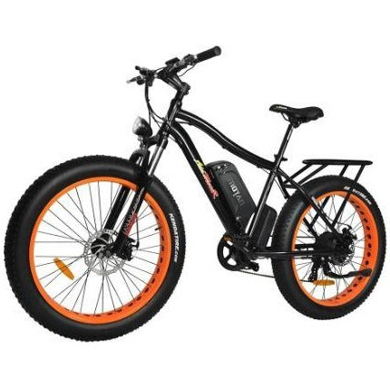 Orange AddMotor Motan M550 750W - Fat Tire Electric Bike - Front View