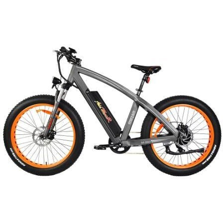 Orange AddMotor Motan M560 - Sport Fat Tire Electric Bike - Side View