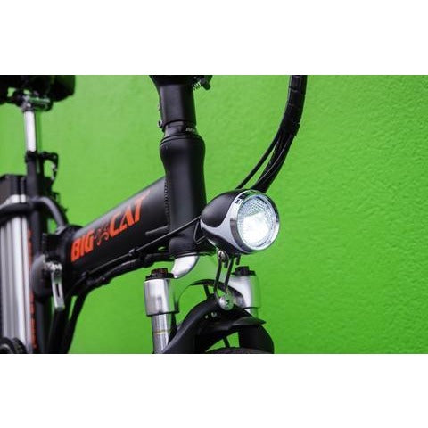 Big Cat Alley Cat - Folding Electric Bike - Front Light