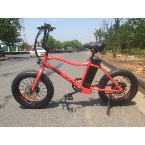 Orange Big Cat Mini Cat XL500 - Fat Tire Electric Bike - Side View