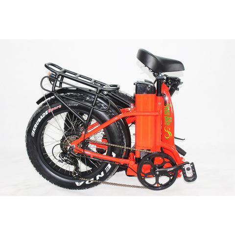 Green Bike USA GB750 Fat Tire Step Thru - Folding Electric Bike - Folded