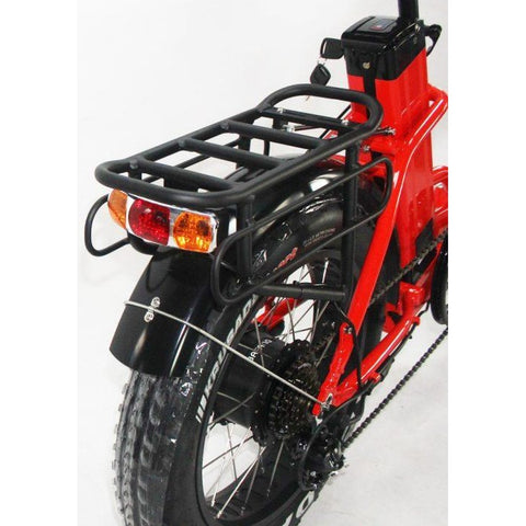 Red Green Bike USA GB750 Fat Tire Step Thru - Folding Electric Bike - Rear Rack