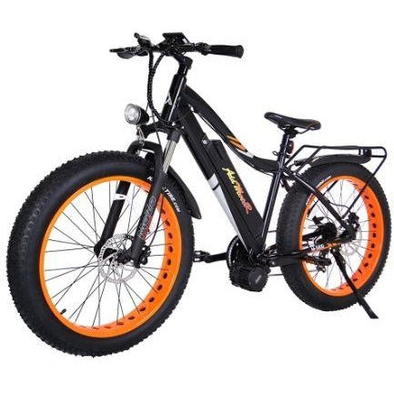 Orange AddMotor Motan M5800 - Fat Tire Electric Bike - Front View