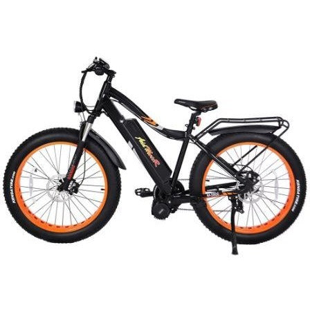 Orange AddMotor Motan M5800 - Fat Tire Electric Bike - Side View