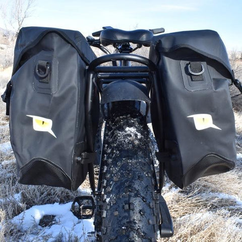 QuietKat - Pannier Bag Set - Rear View on E-Bike