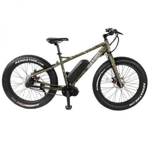 Rambo 750W Mossy Oak Camo - Fat Tire Electric Mountain Bike - Side View