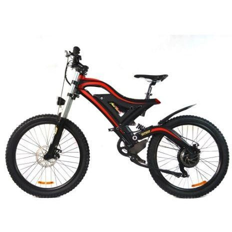 Red AddMotor HitHot H5 - Electric Mountain Bike - Side View