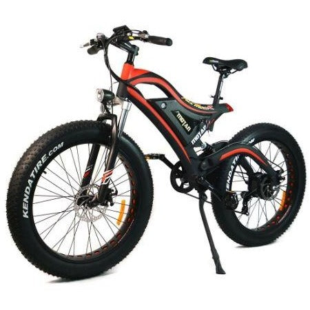 Red AddMotor Motan M850 - Electric Mountain Bike - front view