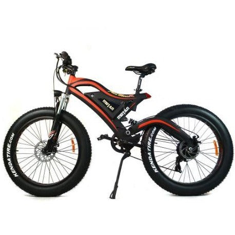 Red AddMotor Motan M850 - Electric Mountain Bike - Side view