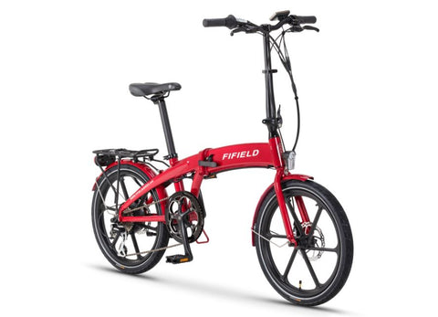 Red Fifield Jetty 4.0 - Folding Electric Bike - Front View