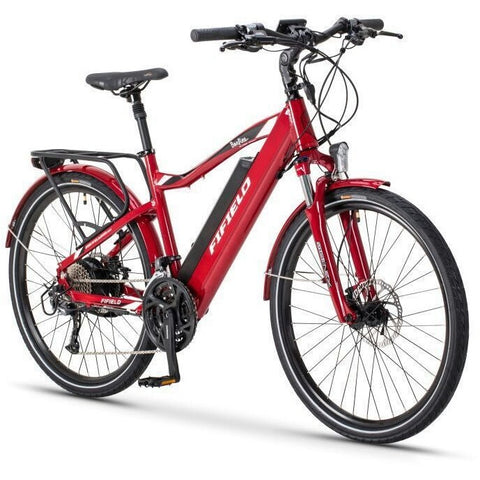 Red Fifield Bonfire 500 - Electric Commuter Bike - Front View