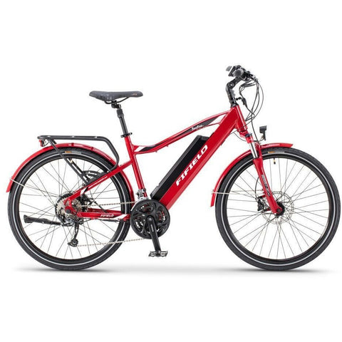 Red Fifield Bonfire 500 - Electric Commuter Bike - Side View