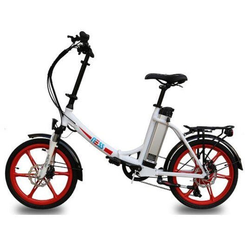 Red Ness Icon Folding Electric Bike - Side View