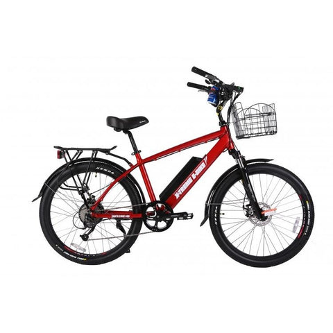 Red X-Treme Laguna Beach Cruiser 48V Electric Cruiser Bike - Side View