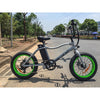Image of Silver Big Cat Mini Cat XL500 - Fat Tire Electric Bike - Side View