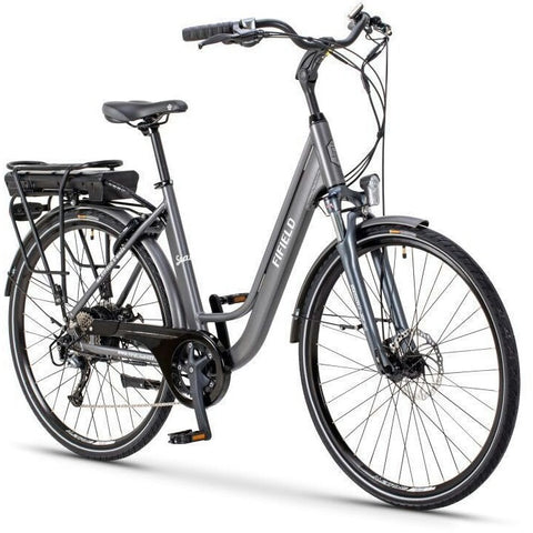 Silver Fifield Seaside - Electric Cruiser  Bike - Front View