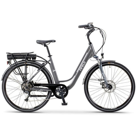 Silver Fifield Seaside - Electric Cruiser  Bike - Side View