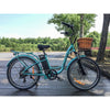 Image of Teal Big Cat Long Beach Cruiser 500 - Electric Cruiser Bike - Side View