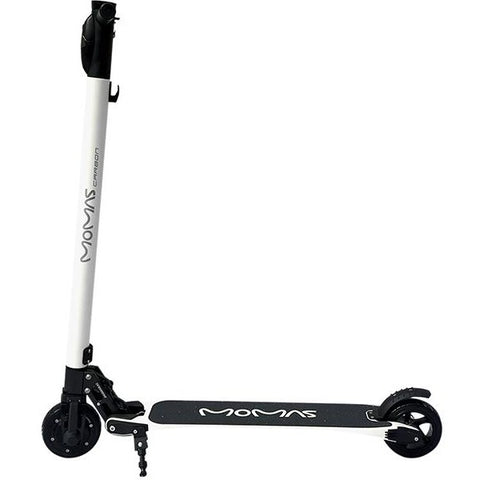 White e-Joe MOMAS Carbon - Electric Scooter - Side View